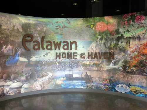 At the entrance of the Palawan Heritage Center