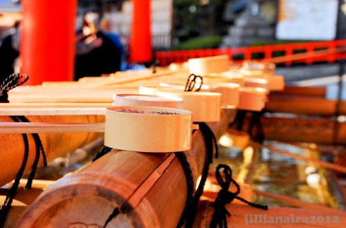 Before entering any shrine, you should wash your hands and mouth at the purification trough