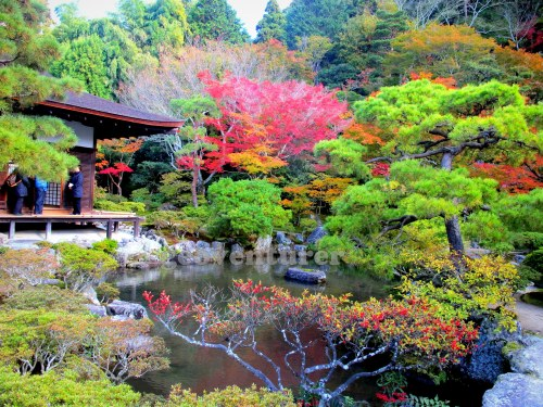 The beautiful garden in Ginkakuji