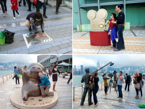 Tourists enjoying their photo session spree