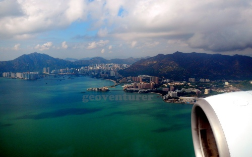 Hong Kong from the plane