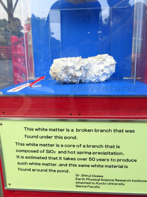 Display explaining the origin of silica sinter