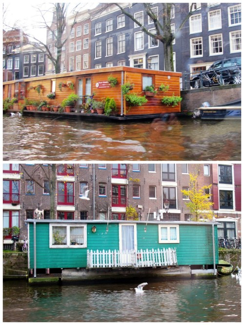 Boat houses on the canal