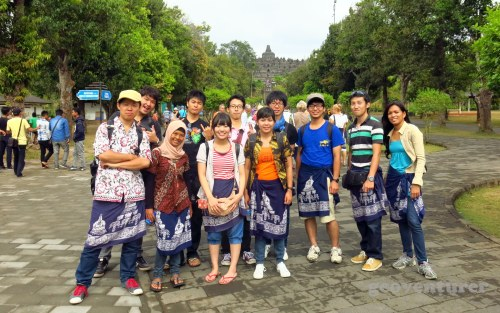 Our group wearing the batik