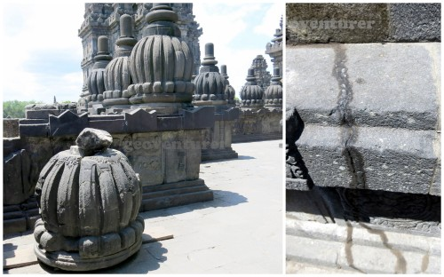 Some damaged parts of the temple