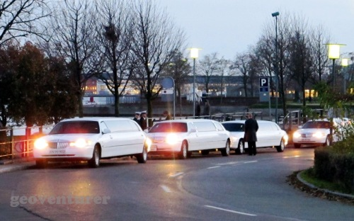 I've never seen so many limousines together in one place