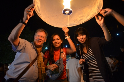 Before releasing the lantern