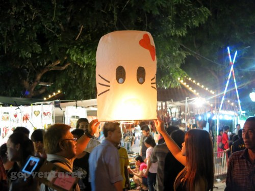 Hello Kitty lantern at the night bazaar