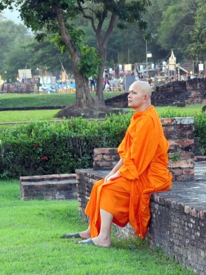 A monk at the Wat Mahathat