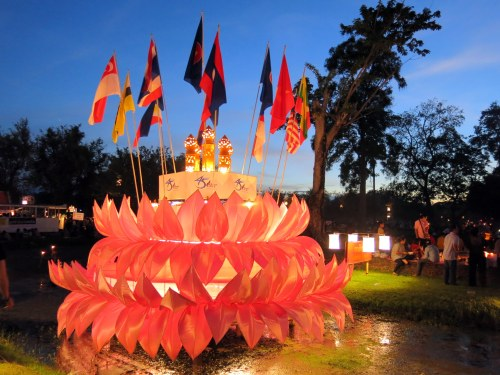 The ASEAN krathong float