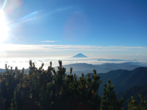 View of Mt. Fuji from Kitadake