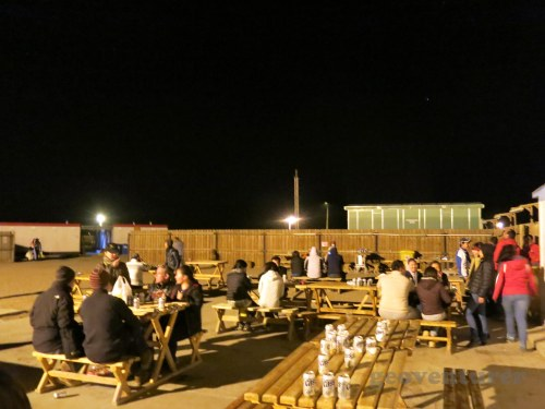 Employees enjoying drinks on a weeknight