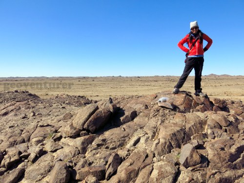 Standing on agpaitic pegmatite rocks